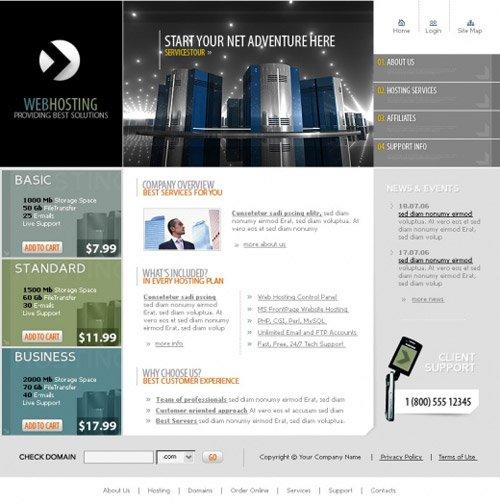 Скачать html шаблон сайта хостинг предоставление виртуального хостинга