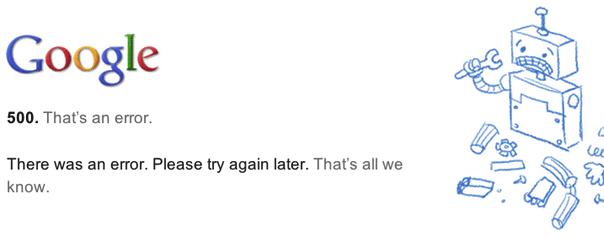 An internal server error occurred перевод