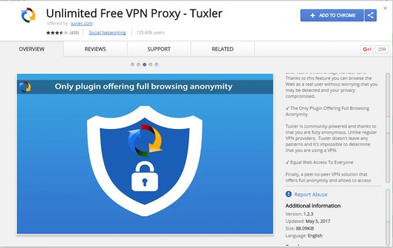 Unlimited Free VPN Proxy – Tuxler