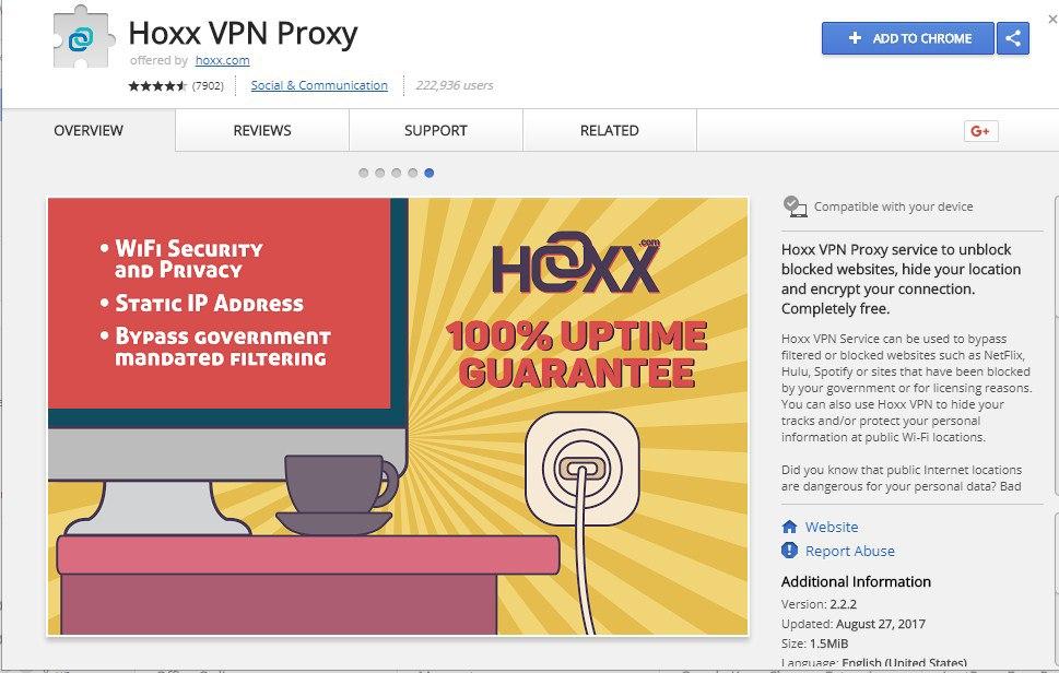 Hoxx VPN Proxy Chrome
