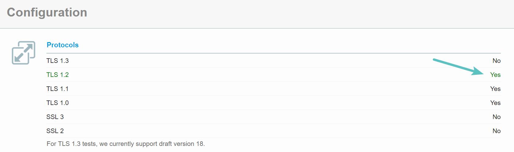 Проверка старой версии TLS