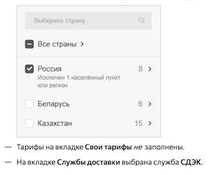 Яндекс.Маркет покажет условия доставки