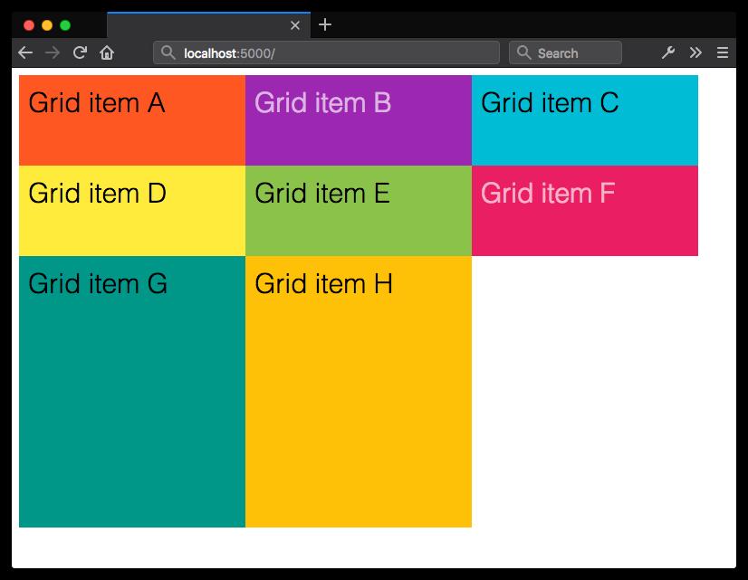 Определение размера элементов неявного Grid