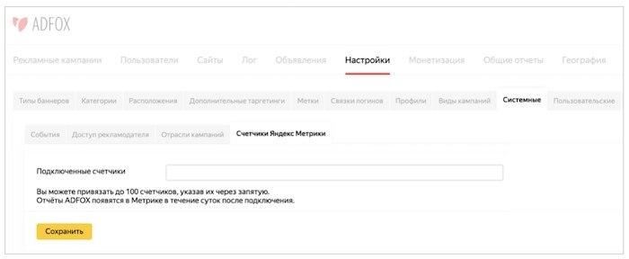 Отчеты ADFOX от Яндекс.Метрики