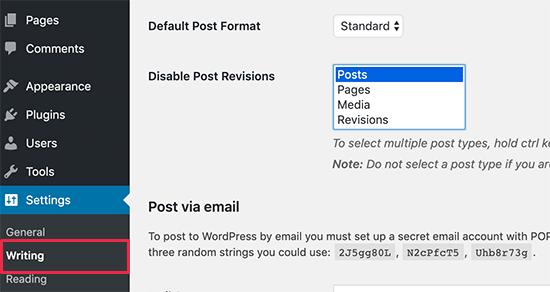 Как полностью отключить ревизии в WordPress