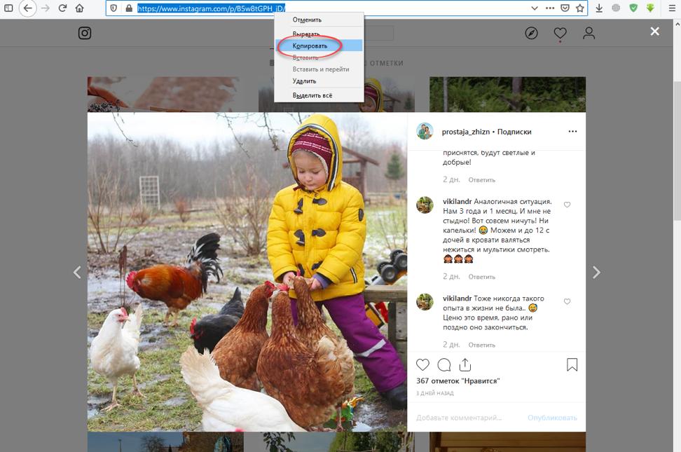 Как быстро скачать фото из Instagram