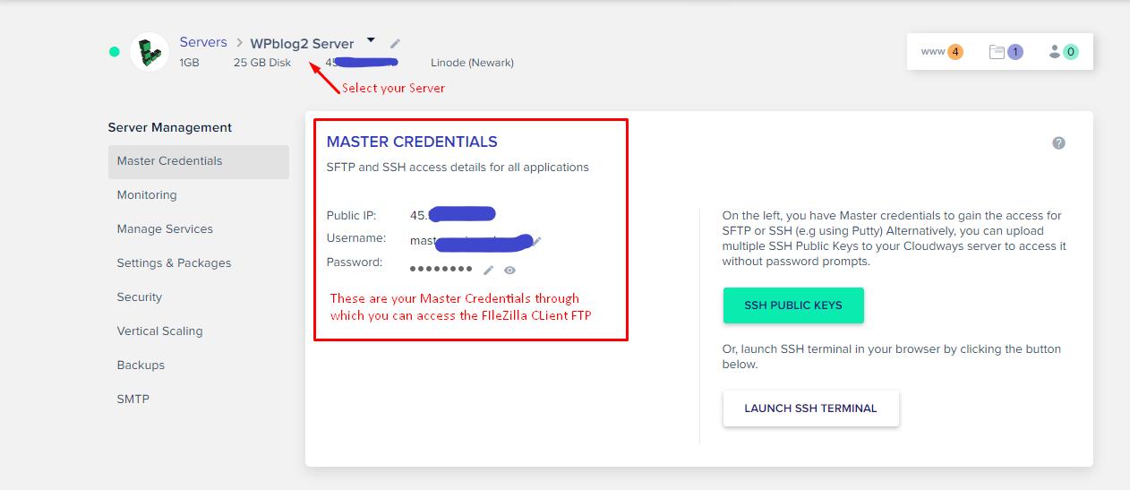 Шаг 3: Перенесите файл Installer.php и ZIP-архив на сервер Cloudways с помощью FTP-клиента FileZilla