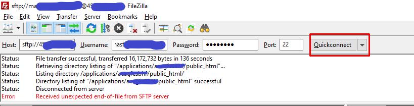 Шаг 3: Перенесите файл Installer.php и ZIP-архив на сервер Cloudways с помощью FTP-клиента FileZilla - 2