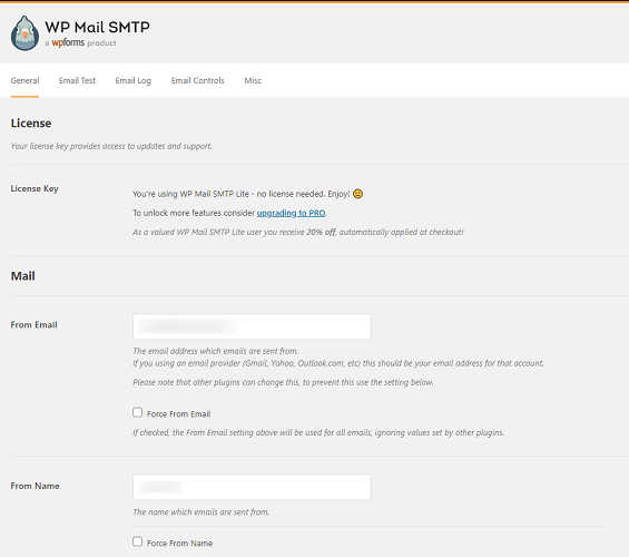 Шаг 2: Настройка плагина WP Mail SMTP