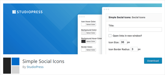 7. Simple Social Icons