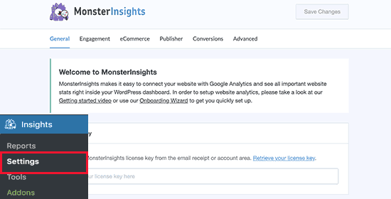 Настройка Google Analytics с помощью MonsterInsights