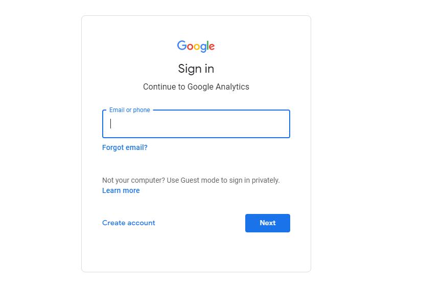 Шаг 1. Настройте аккаунт Google Analytics