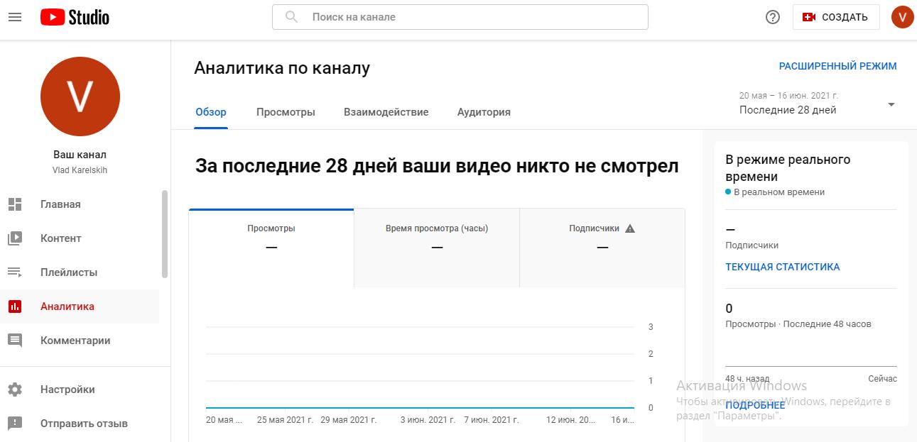 Как проверять работу Ютуб-канала