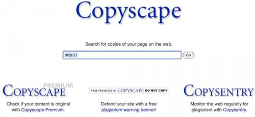 Copyscape - иностранная минималистичность в деле