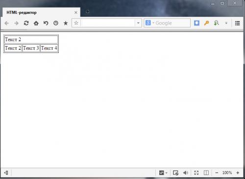 Объединение ячеек в HTML таблице