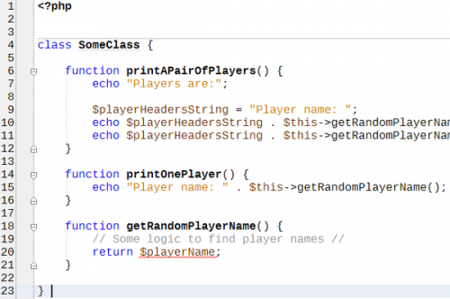 printOnePlayer()