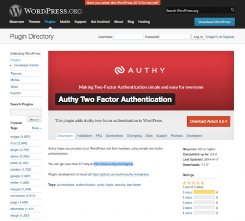 Authy Two-Factor Authentication