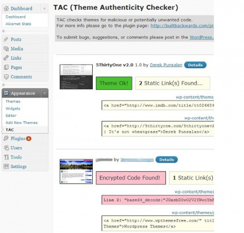 Theme Authenticity Checker (TAC)