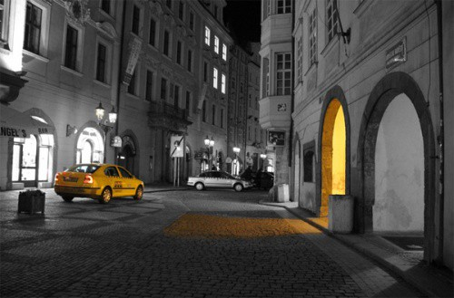 yellow-color-splash-cab
