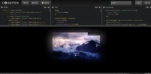 Bootstrap-ambilight-Carousel