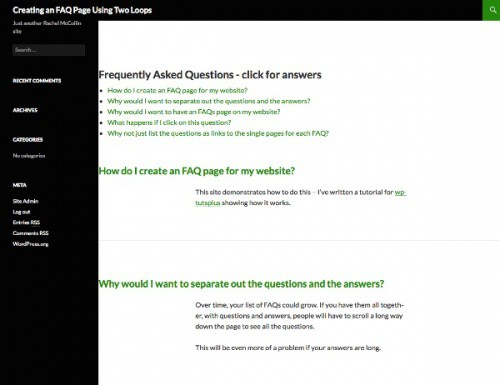create-faq-page-using-two-loops-archive-page