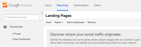 analytics-landing-pages