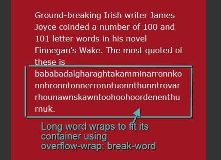 Свойство word-wrap/overflow-wrap - 2