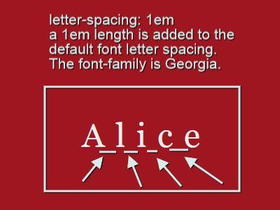 Свойство letter-spacing - 2