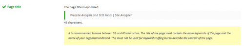 title tag on google site analyzer