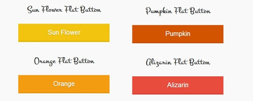 Красивые плоские кнопки