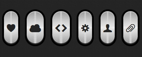 Металлические CSS3 кнопки