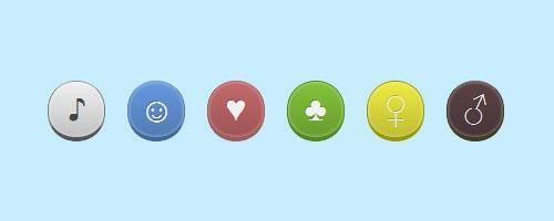 Круглые CSS3 кнопки