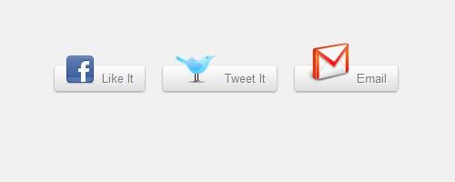 CSS3 кнопки социальных сетей с возможностью нажатия