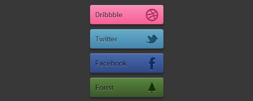 Поразительные CSS3 кнопки социальных сетей