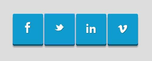Социальные 3D кнопки