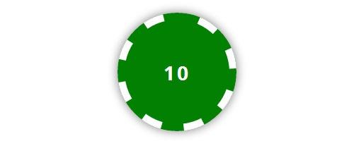 Кнопки в виде покерной фишки