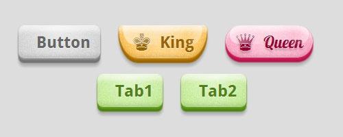 Глянцевые кнопки