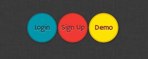 Круглые анимированные кнопки CSS3