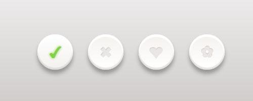 Кнопки Clean Circle