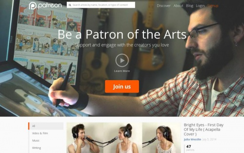 landing-page-inspiration-patreon