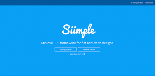 Minimal-CSS-framework-for-flat-and-clean-designs-·-Siimple