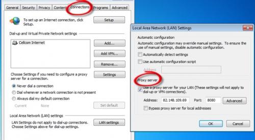 Как подключить прокси в браузере Internet Explorer