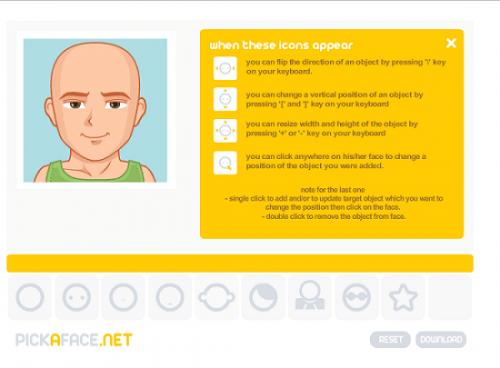 Сделать аву онлайн с помощью Pick a Face