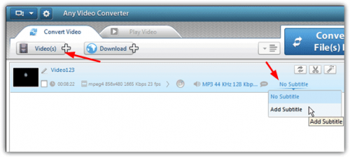 Как вставить субтитры в видео? Способ 3: Использование Any Video Converter Version
