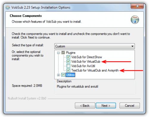 Способ 4. Как добавить субтитры к видео с помощью VirtualDub и VobSub