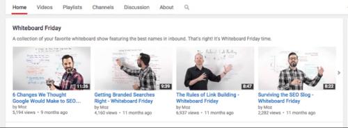 Начните цикл еженедельных публикаций видеороликов